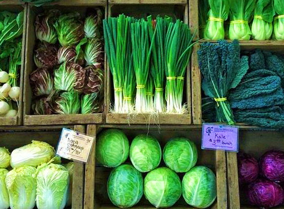 зеленые овощи - продукты для детокс-диеты