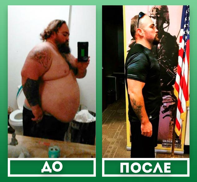 очень толстый мужчина до похудения и стройный подкаченный после