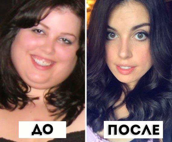 Изменилось лицо после сброса веса
