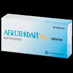 Таблетки Абилифай при шизофрении