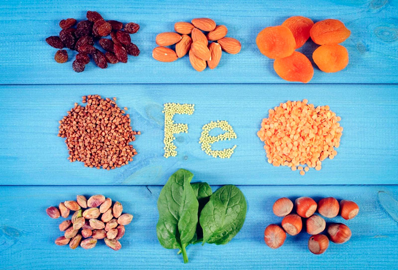 Продукты при недостатке железа в организме