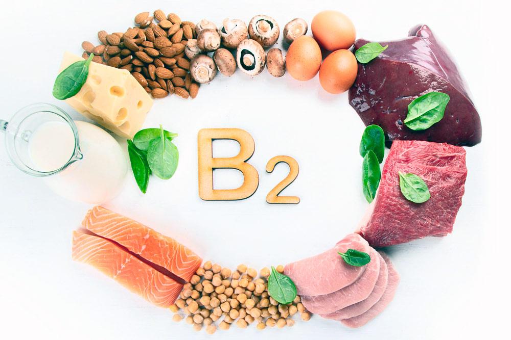 Содержание витамина B2 в продуктах питания