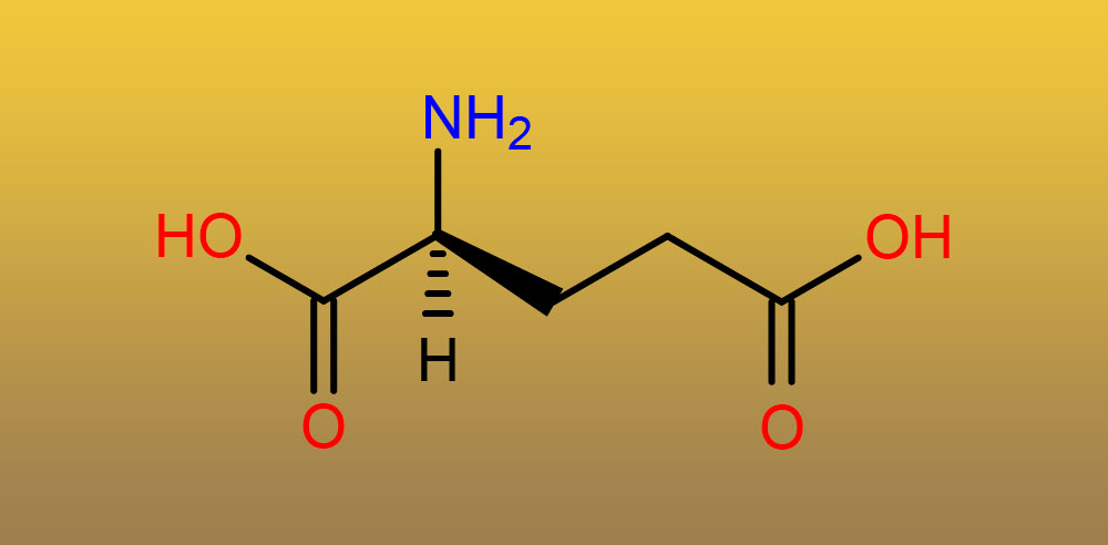 Структура глутаминовой кислоты